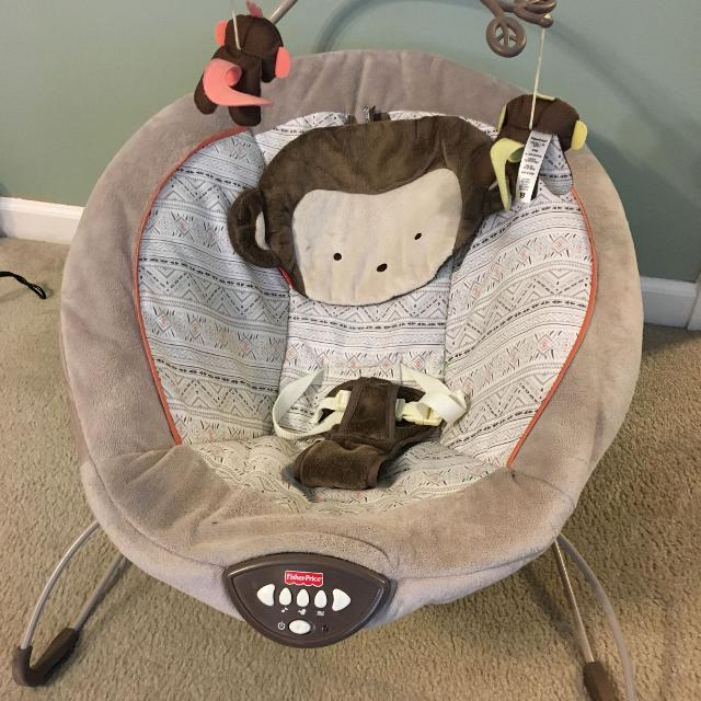 Find More Fisher Price Monkey Baby Bounce Seat With Sound For Sale
