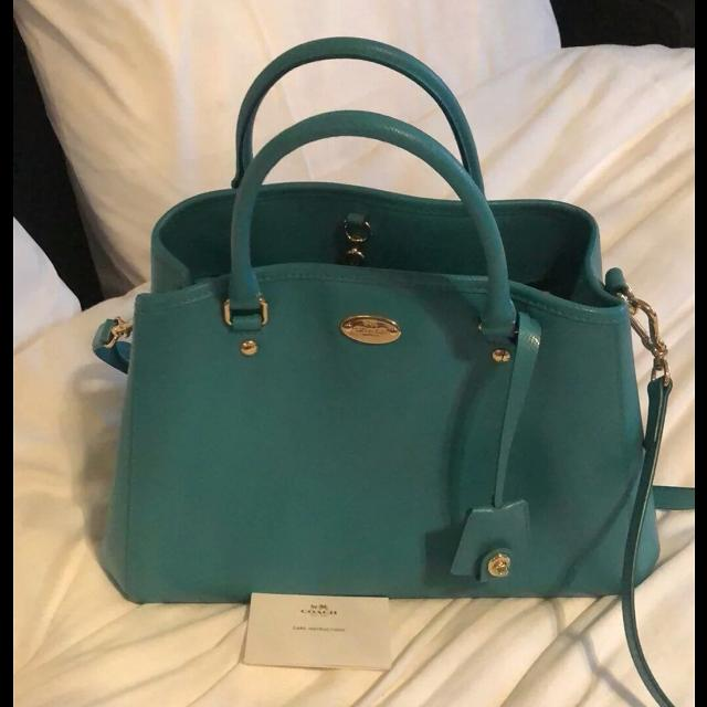 Tiffany Blue Coach Satchel Shoulder Bag