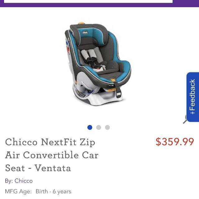 Find more Chicco Nextfit Zip Air Convertible Car Seat for sale at up ...