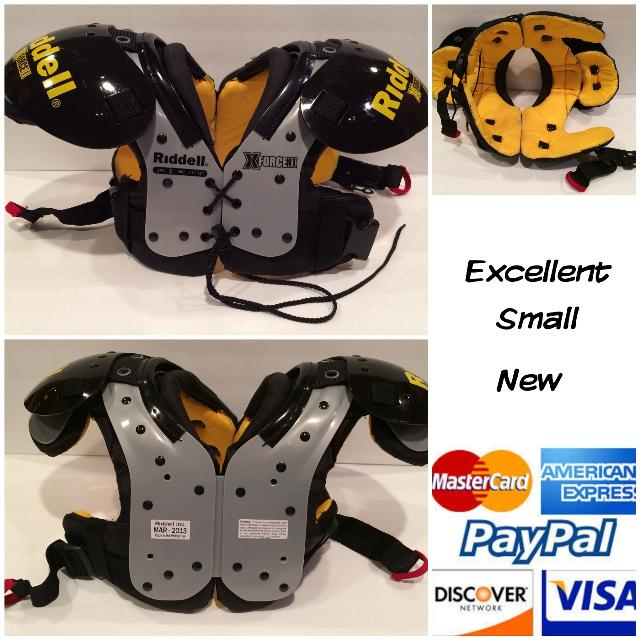 hot sale online cebbd 40a0b Riddell XForce II Youth Shoulder Pads & Mesh Practice Jersey (jersey  pictured in comments)