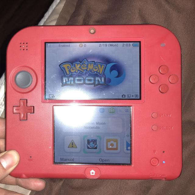 find more nintendo 2ds crimson red 2 with mario kart 7 euc for sale