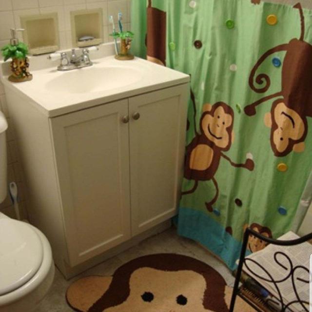 9pc Monkey Bathroom Set