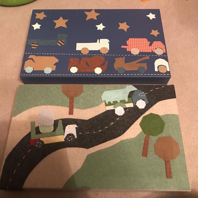 Best Pottery Barn Kids Set Of 2 Transportation Canvas Wall
