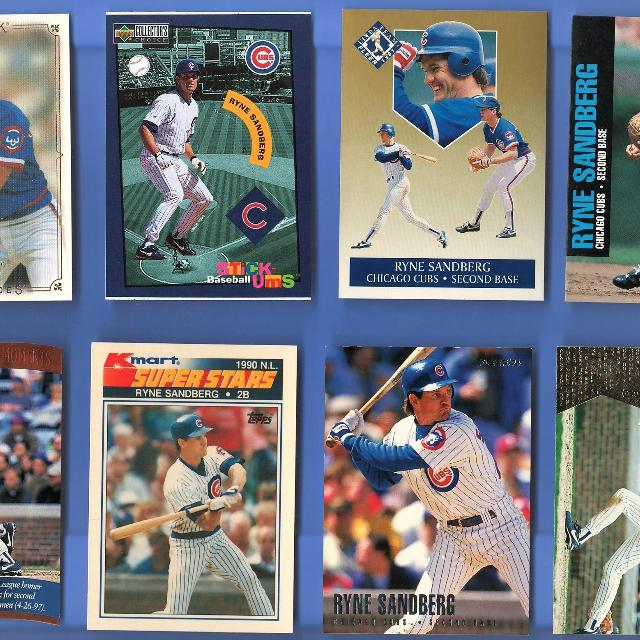Ryne Sandberg Baseball Card Lot Of 6 Cards Nm Mt 8 Or Better Cubs