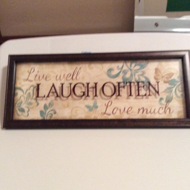 LIVE LAUGH LOVE WALL DECOR PICTURE GLASS FRAME