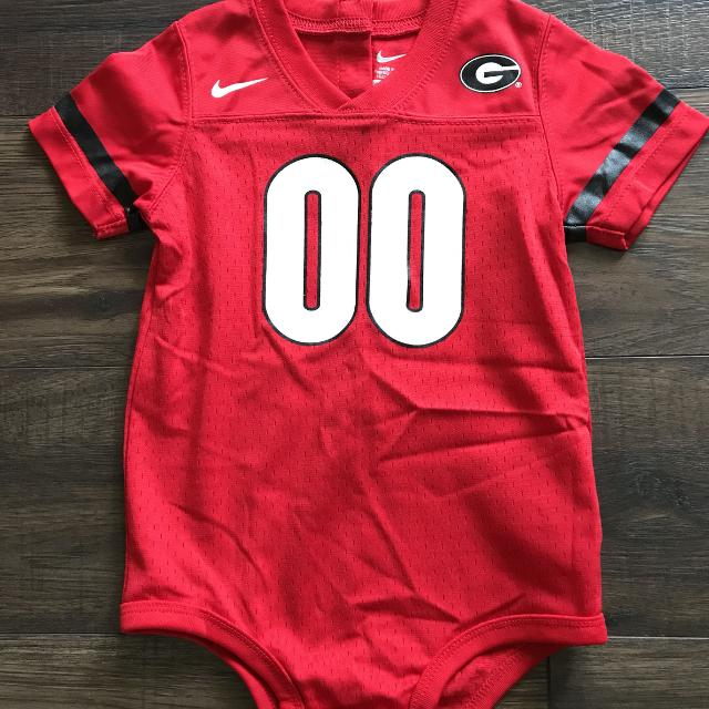 buy popular 12222 6b8e2 Nike Georgia Bulldog Jersey Onesie - 24mo