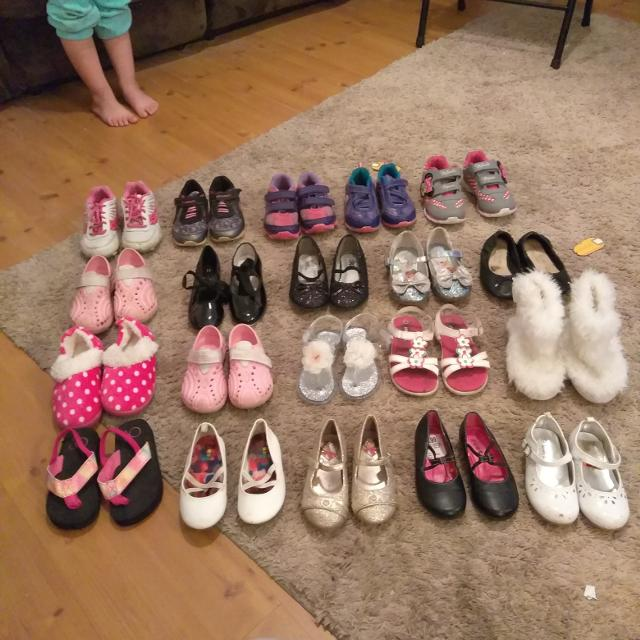 5a40058bcbe702 Best 20 Pairs Of Toddler Girls Shoes Sizes 6 - 11  50 for sale in  Woonsocket