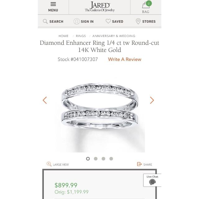 Find More Jared S Wedding Band For Sale At Up To 90 Off