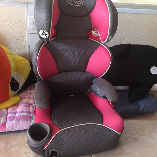 Pink Graco Affix Highback Booster Car Seat With Latch System