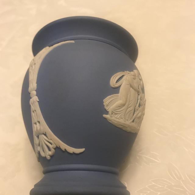 Best Wedgwood Jasper Urn Vase Blue Jasperware Made In England