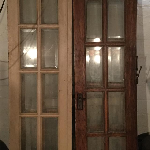 Find more price reduced 20s 30s antique hinged french doors w 20s 30s antique hinged french doors w beveled glass planetlyrics Gallery