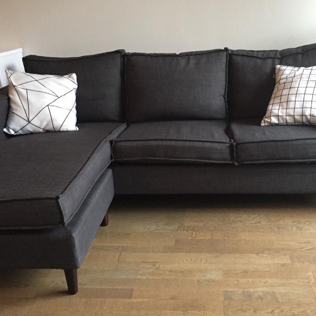 Best Structube York Dark Grey Sectional Sofa for sale in Brockton ...