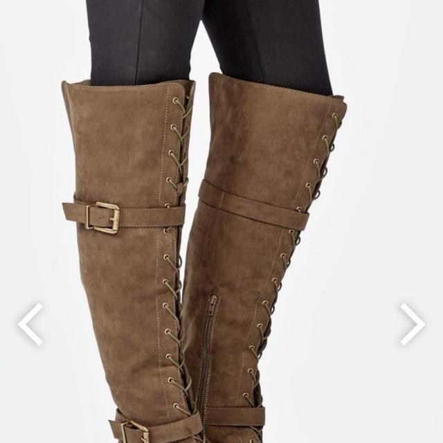 a9090f5b3a35 Find more Olive Wide Calf Lace Up Riding Boots *nwt* for sale at up ...