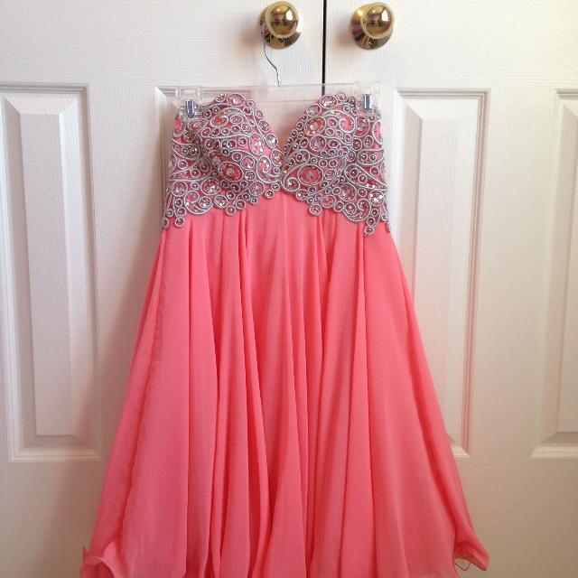 b667fb77333 Best Coral Pink - Short - Graduation Dress for sale in Clarington ...