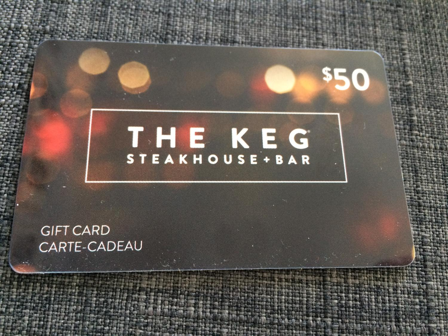 Find More The Keg Gift Card For Sale At Up To 90 Off