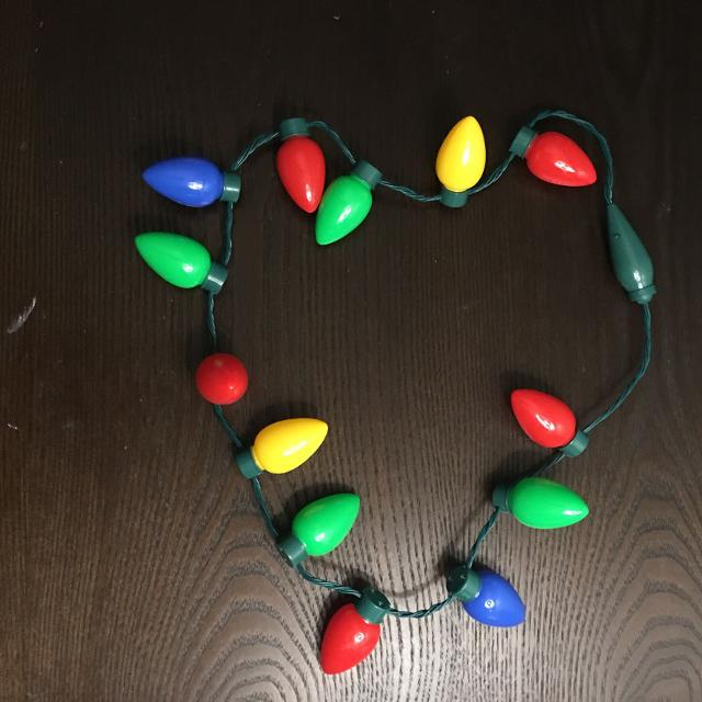 christmas lights multi function necklace