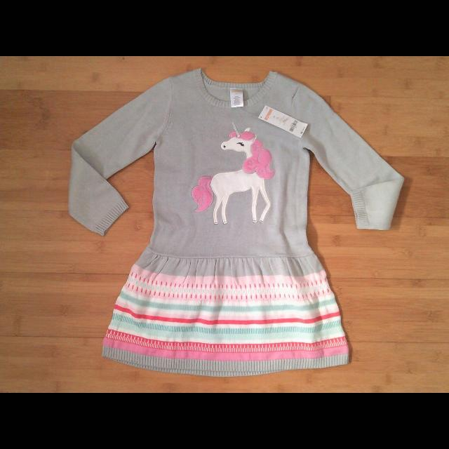c4c2653a4974 Find more Nwt Gymboree Unicorn Sweater Dress Size 5t for sale at up ...