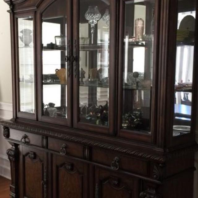 Best Ashley Furniture Solid Wood China Cabinet For Sale In Karns