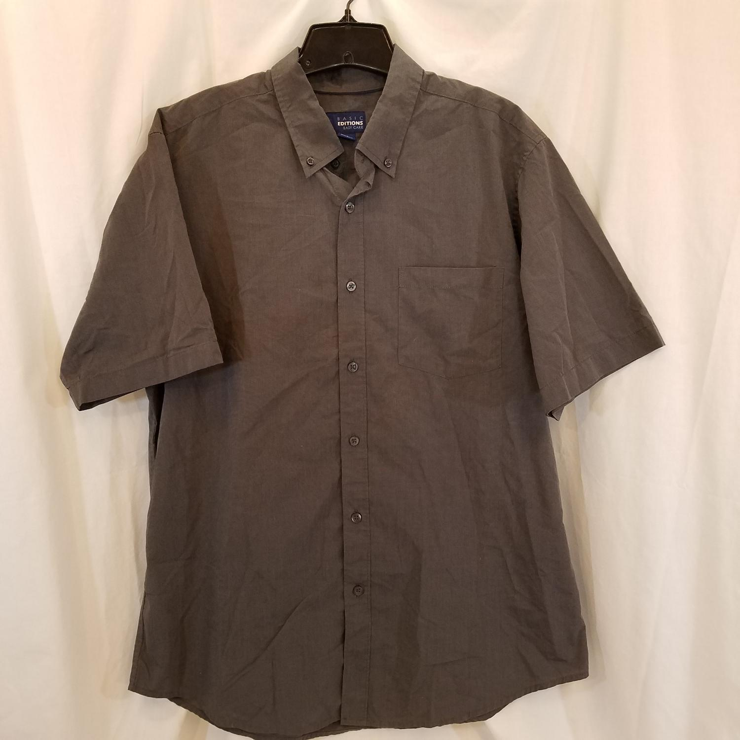 be39c3d49798 Best Mens Short Sleeve Button Down Shirt By Basic Editions