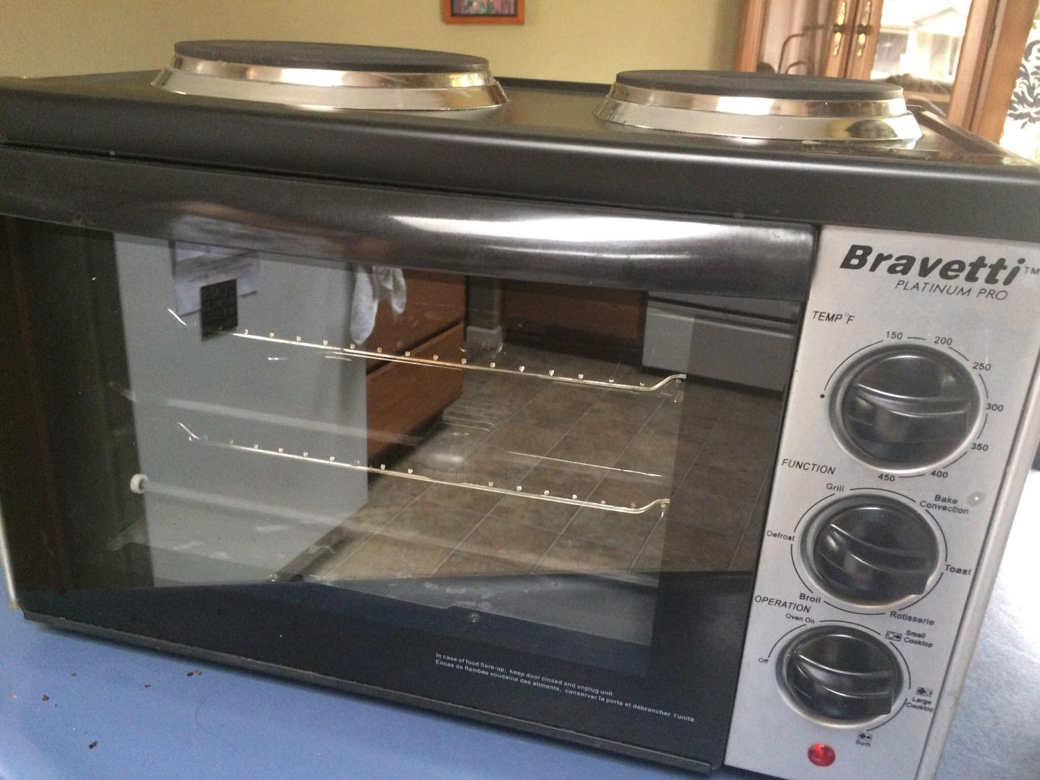 Bravetti Toaster Oven With Cooktop All About Image Hd