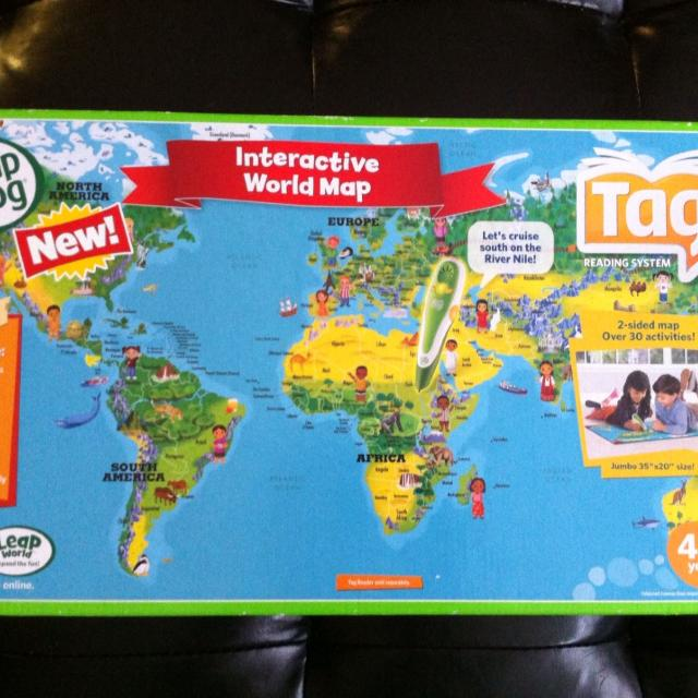 Best leapfrog tag interactive world map 2 sided map and over 30 leapfrog tag interactive world map 2 sided map and over 30 activities gumiabroncs Gallery