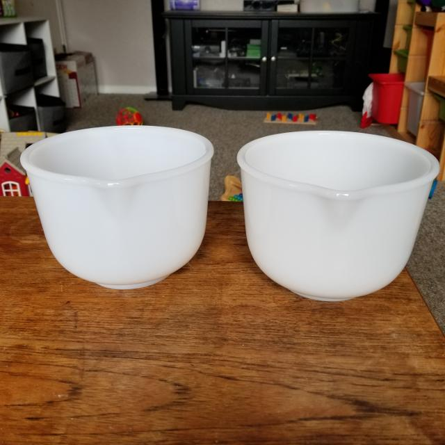 Find more Vintage Glasbake For Sunbeam Milk Glass Mixing Bowls for ...