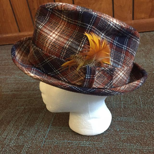 Find more Men s Vintage Pendleton Wool Brown Blue Plaid Feathers ... d5e142badb0c
