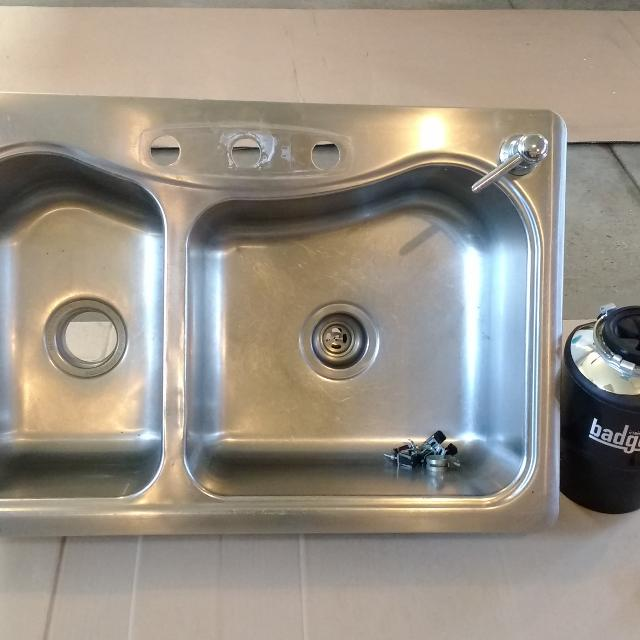 best stainless steel sink w garbage disposal for sale in warsaw
