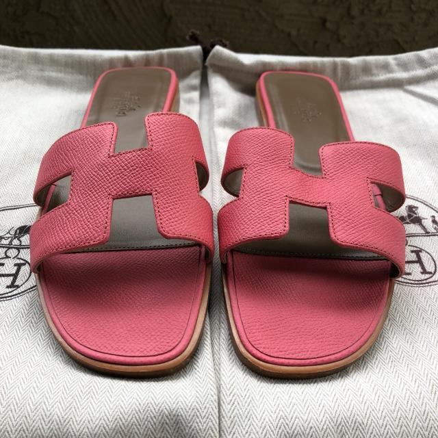 7290eb045ac0 Best 100% Authentic Hermes Oran Sandals Pink Epsom Leather Size Eu 37 Us 7  for sale in Los Angeles