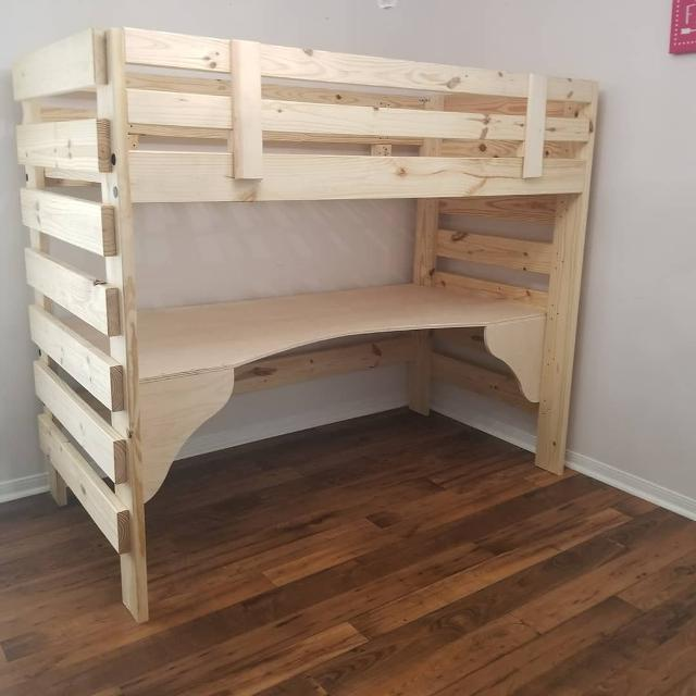 Best Free Staining 1 800 Bunkbed Loft Bed With Or Without Desk