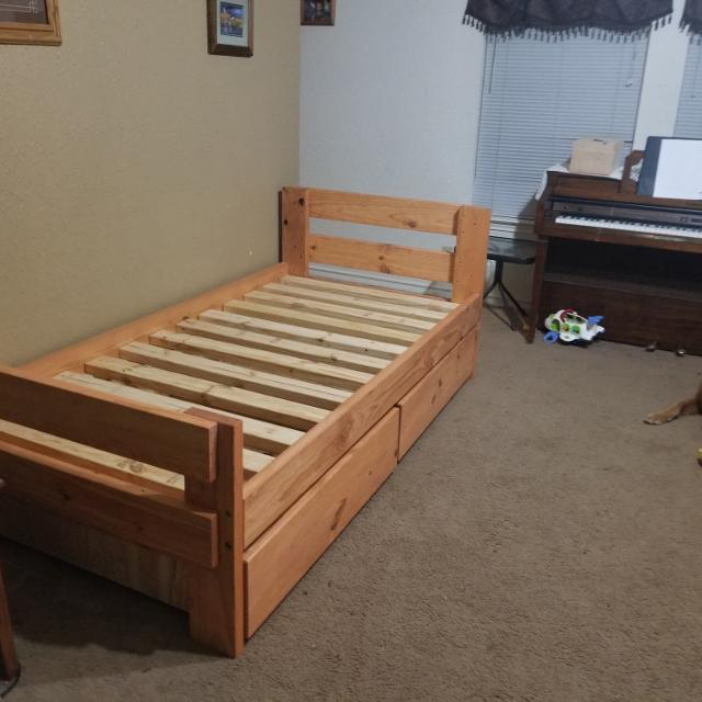 Best Free Staining 1 800 Bunkbed Twin Bed With Storage For Sale In