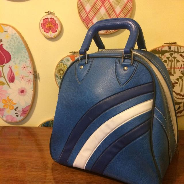 Vintage Authentic Bowling Ball Bag