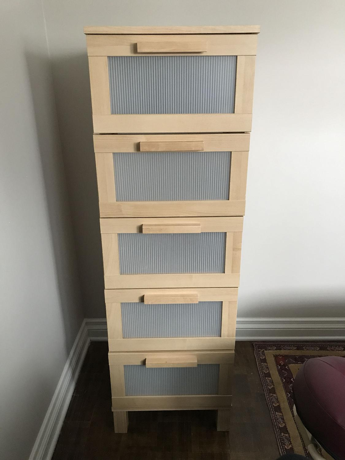 Ikea Aneboda Birch Tall 5 Drawer Dresser