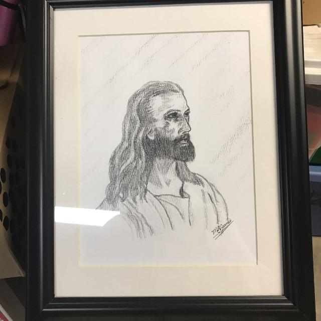 Best Jesus Christ Framed Sketch Signed for sale in New Braunfels ...