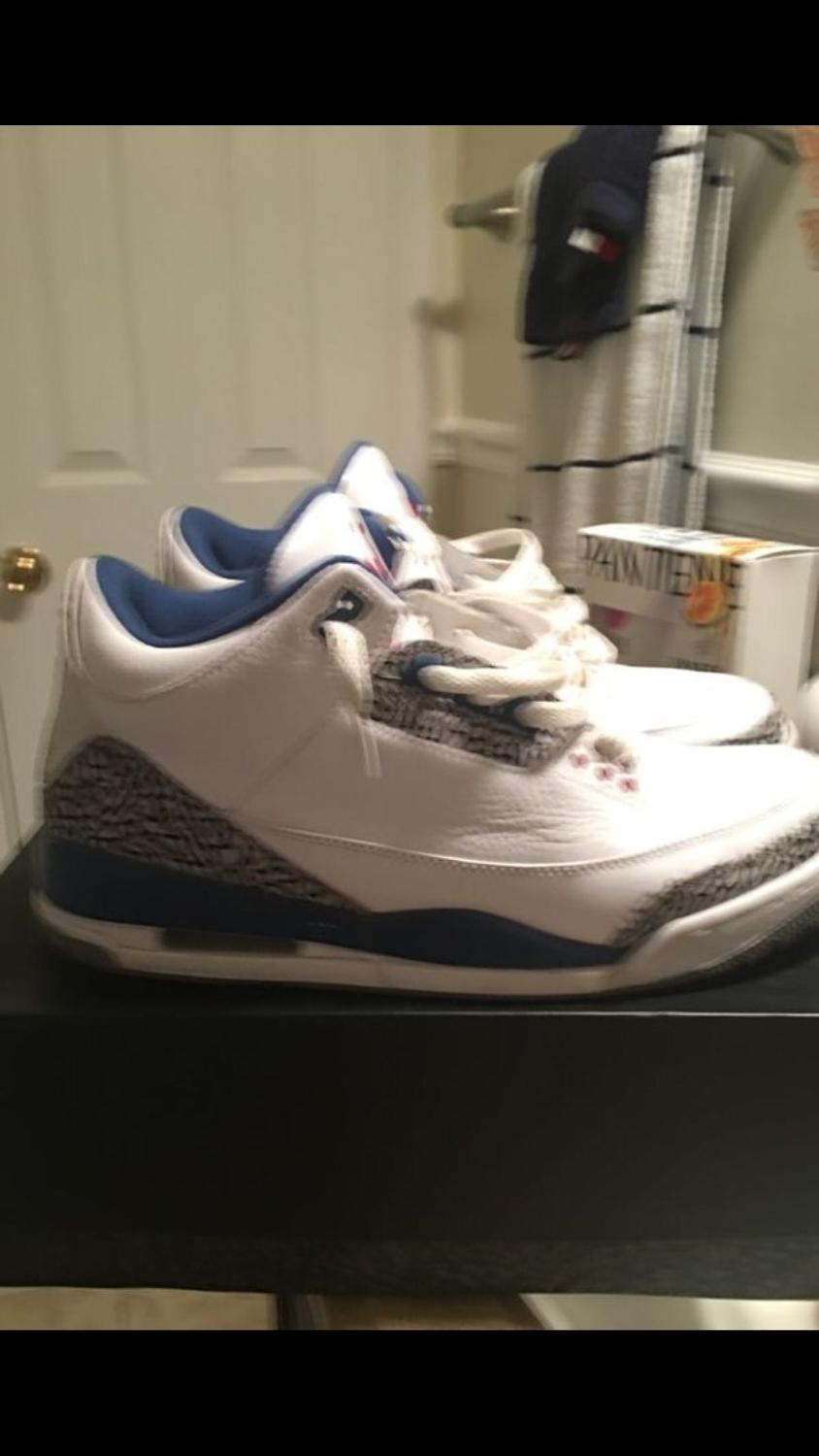 the latest d676a 2bd59 Air Jordan 3s true blue size 12