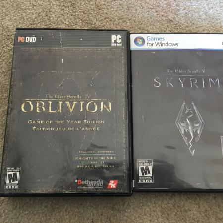 Oblivion and Skyrim for PC for sale  Canada
