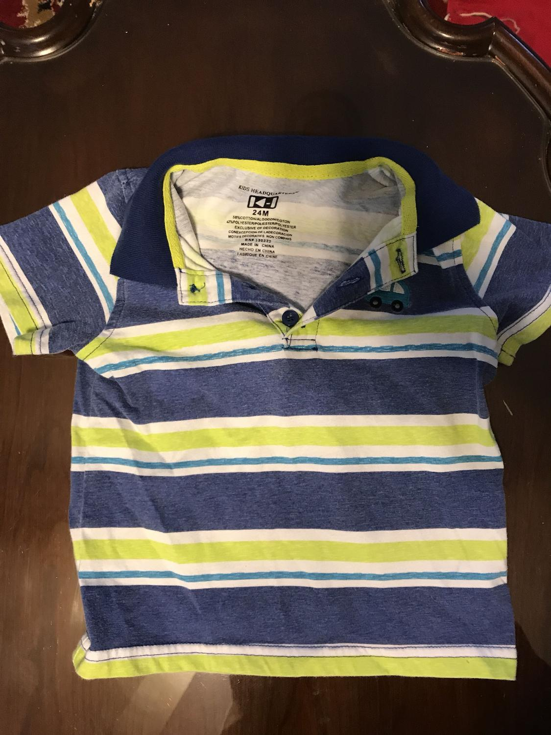 Best Boys Striped Polo Shirt Size 24m For Sale In Huntersville