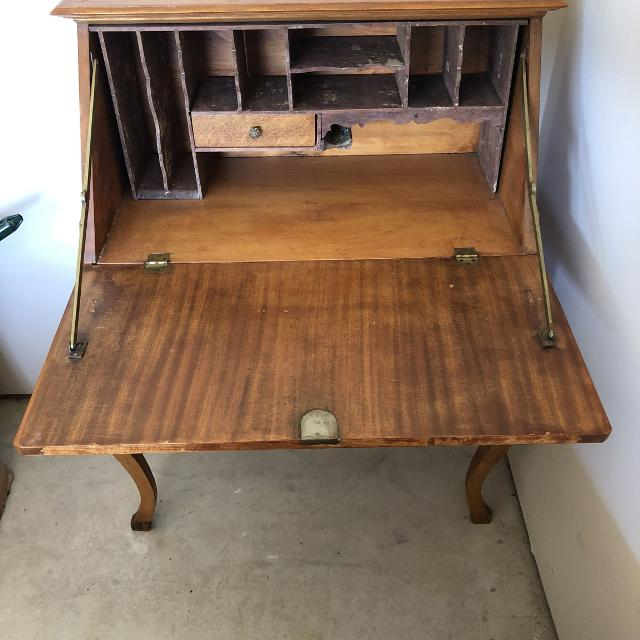 "Antique""ladies"" Secretary Desk, slant front - Best Antique""ladies"" Secretary Desk, Slant Front For Sale In Cypress"
