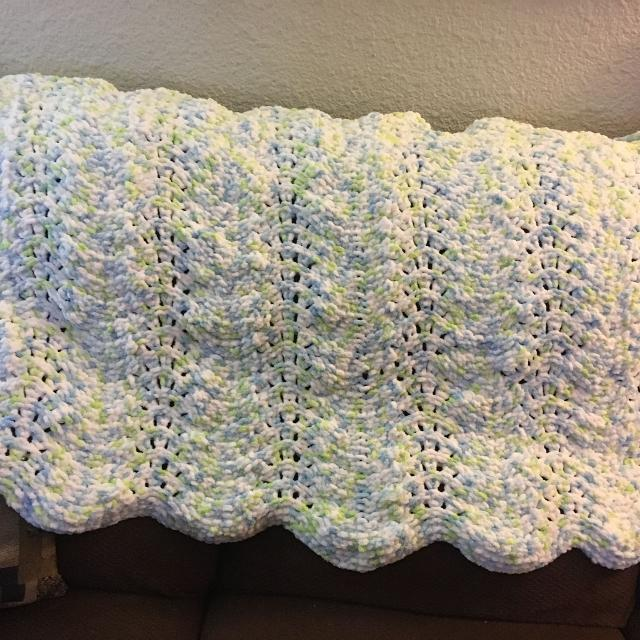 Best Hand Knit Baby Blanket For Crib New 47 X 32 For Sale In