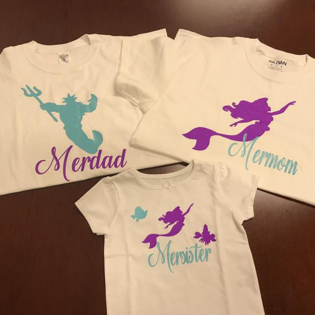Customized Little Mermaid Birthday Shirts