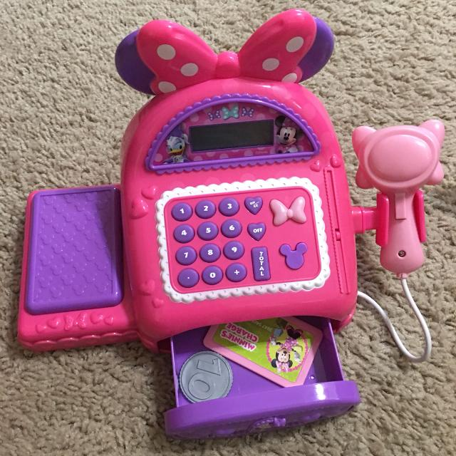 Find More Minnie Mouse Cash Register Used Good Condition Missing