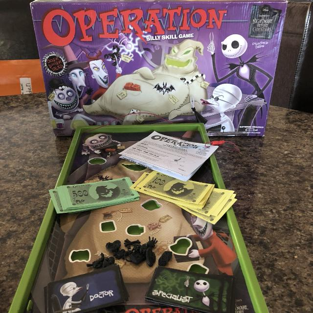 Christmas Operation Game.Nightmare Before Christmas Operation Game