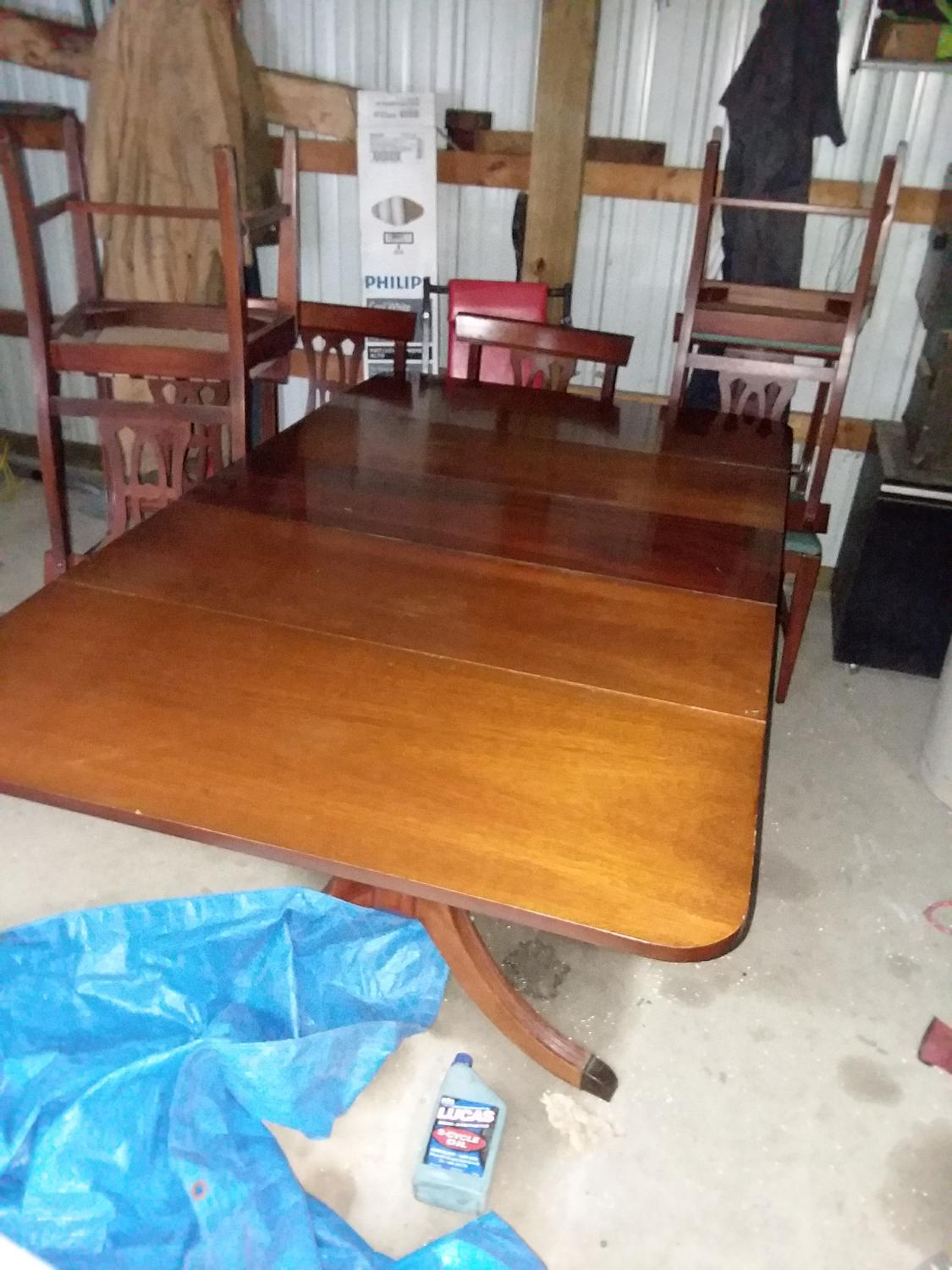 Find More Duncan Phyfe Drop Leaf Table And 6 Chairs For Sale At Up To 90 Off
