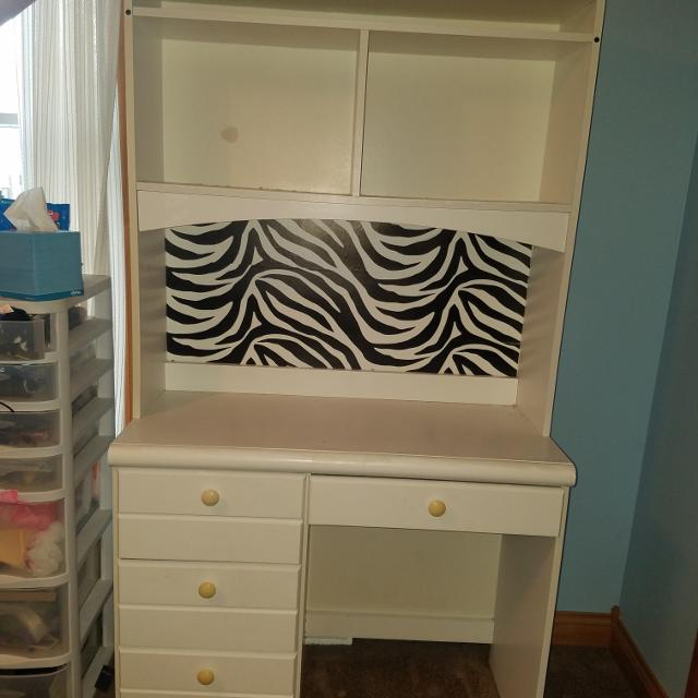 Find More White Dresser Mirror Desk And Chair For Sale At Up To 90