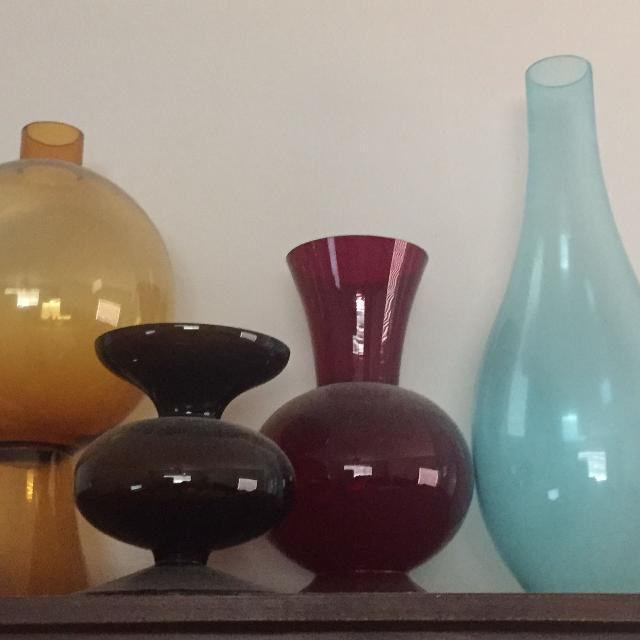 Find More 4 Extra Large Colored Glass Vases Cp For Sale At Up To