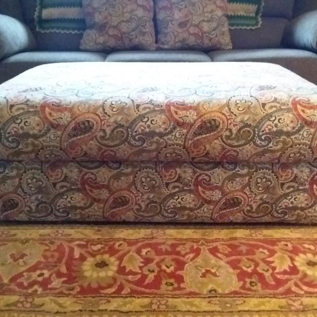 Find More Large Beautiful Paisley Ottoman W Storage On