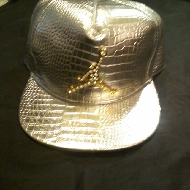 Find more Gold N Rhinestone Jordan Hat for sale at up to 90% off d1289e8faeb