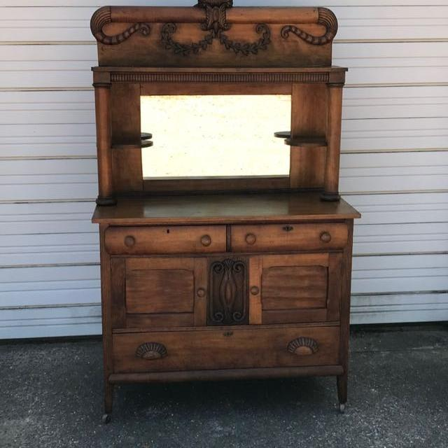 Antique Kitchen Hutch And Buffet: Find More Antique Oak Hutch/buffet For Sale At Up To 90% Off