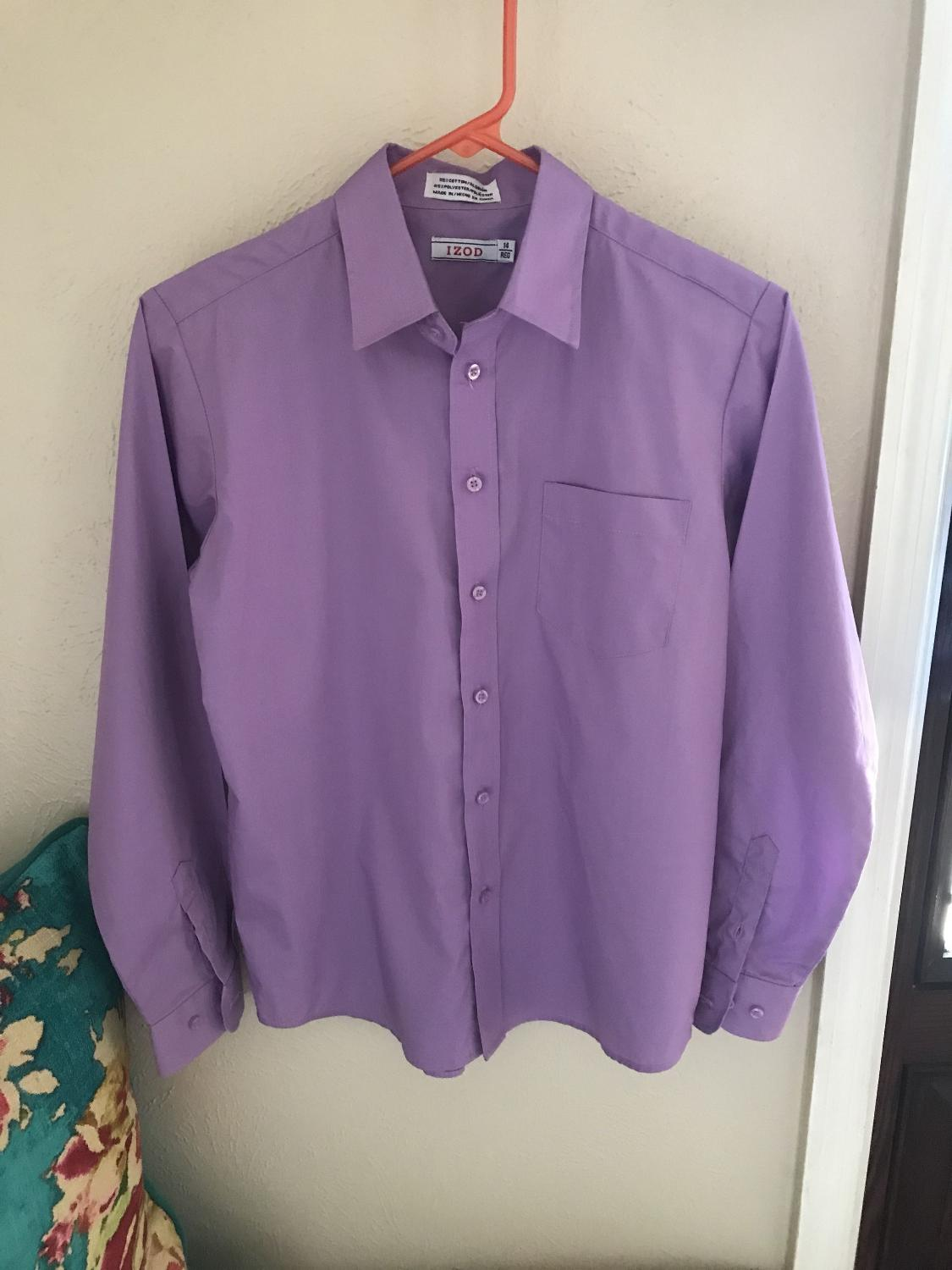 Find More Size 14 Euc Izod Dress Shirt Great For Easter For Sale