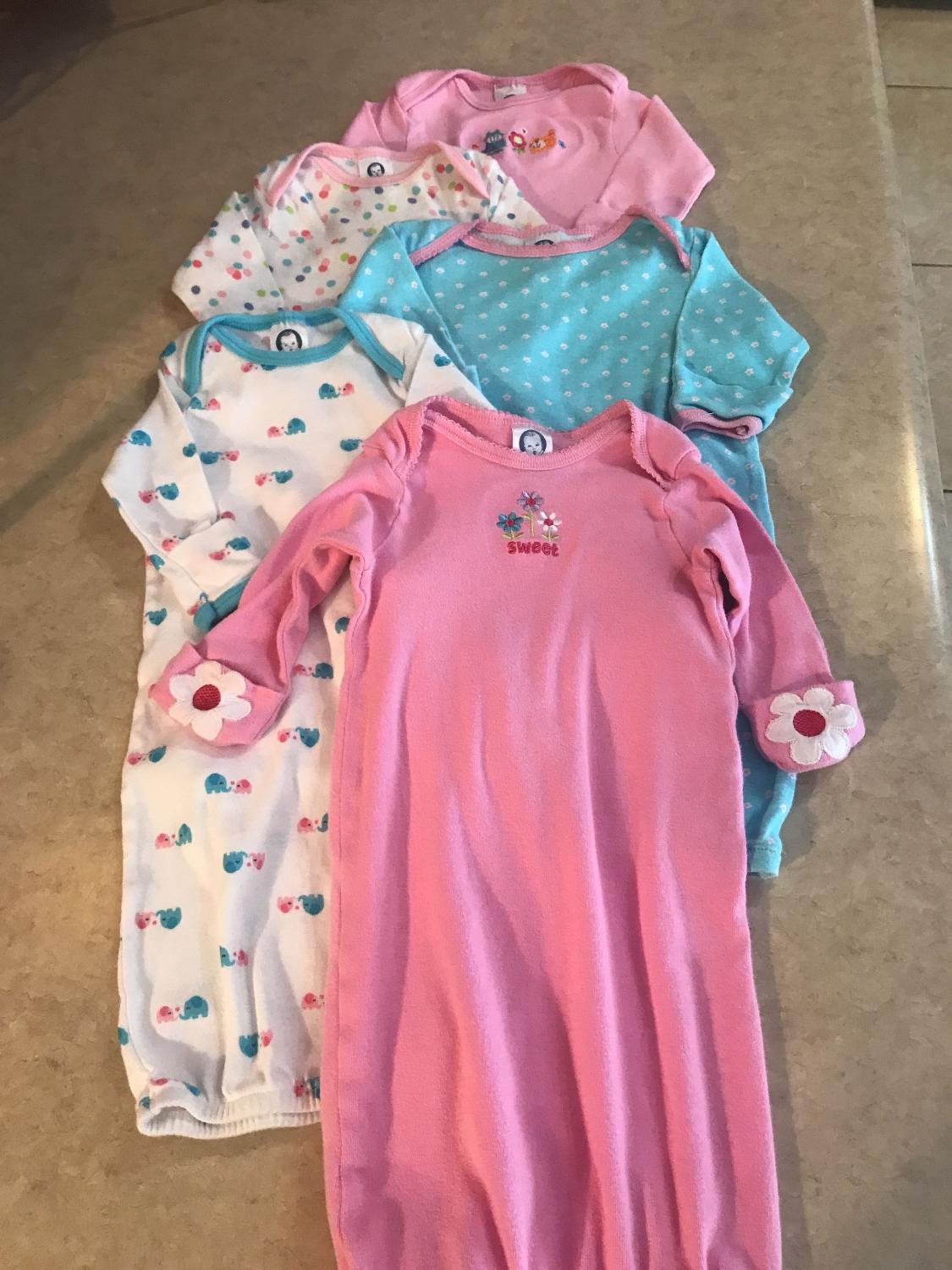 Find more Baby Girls Group Of 5 Cute Gerber Gowns $3.50 for sale at ...